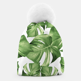 Miniatur Monstera Leaves Green Summer Vibes Pattern #1 #tropical #decor #art Mütze, Live Heroes