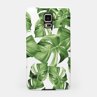Miniature de image de Monstera Leaves Green Summer Vibes Pattern #1 #tropical #decor #art Handyhülle für Samsung, Live Heroes