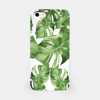 Miniature de image de Monstera Leaves Green Summer Vibes Pattern #1 #tropical #decor #art iPhone-Hülle, Live Heroes