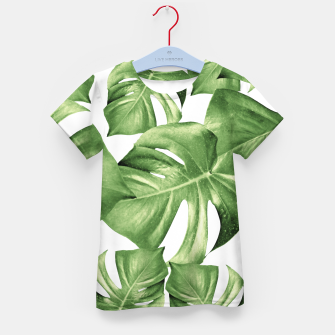 Miniatur Monstera Leaves Green Summer Vibes Pattern #1 #tropical #decor #art T-Shirt für kinder, Live Heroes