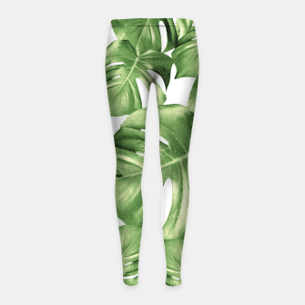 Miniatur Monstera Leaves Green Summer Vibes Pattern #1 #tropical #decor #art Kinder-Leggins, Live Heroes