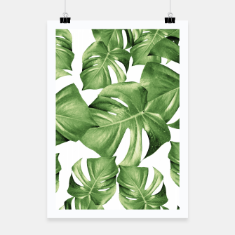 Miniatur Monstera Leaves Green Summer Vibes Pattern #1 #tropical #decor #art Plakat, Live Heroes