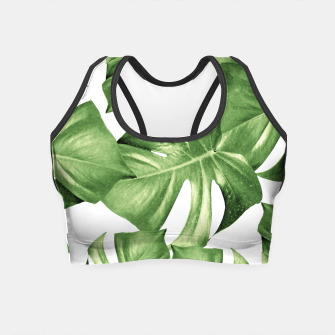 Miniature de image de Monstera Leaves Green Summer Vibes Pattern #1 #tropical #decor #art Crop Top, Live Heroes