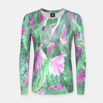 Miniatur botanical coleus leaves camouflage art 1/3 ( green pink ) Women sweater, Live Heroes