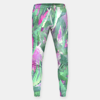 Miniaturka botanical coleus leaves camouflage art 1/3 ( green pink ) Sweatpants, Live Heroes