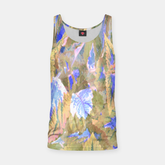 Thumbnail image of botanical coleus leaves camouflage art 2/3 ( yellow blue ) Tank Top, Live Heroes