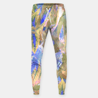 Miniaturka botanical coleus leaves camouflage art 2/3 ( yellow blue ) Sweatpants, Live Heroes