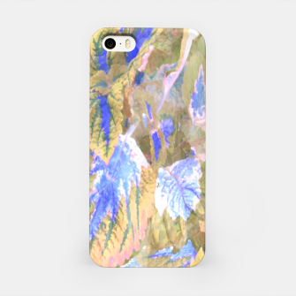 Miniaturka botanical coleus leaves camouflage art 2/3 ( yellow blue ) iPhone Case, Live Heroes