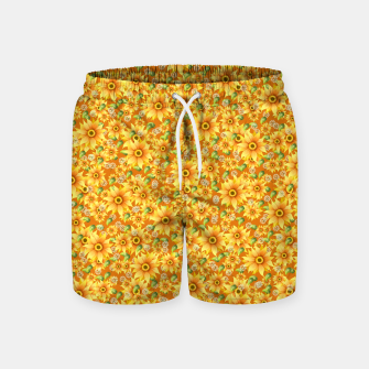Miniatur Sunflowers Swim Shorts, Live Heroes