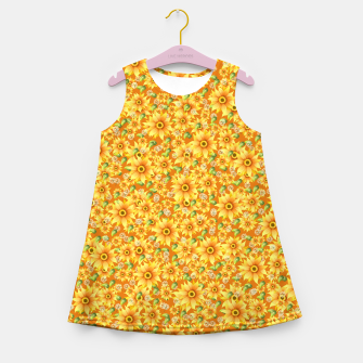 Miniaturka Sunflowers Girl's summer dress, Live Heroes