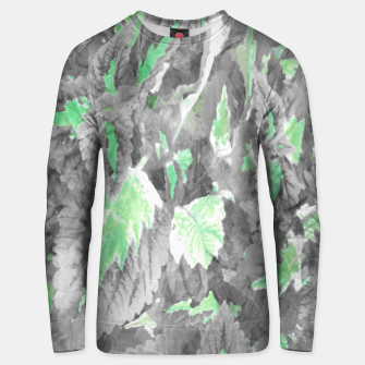 Thumbnail image of botanical coleus leaves camouflage art 3/3 ( gray green ) Unisex sweater, Live Heroes