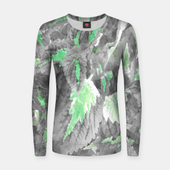 Thumbnail image of botanical coleus leaves camouflage art 3/3 ( gray green ) Women sweater, Live Heroes