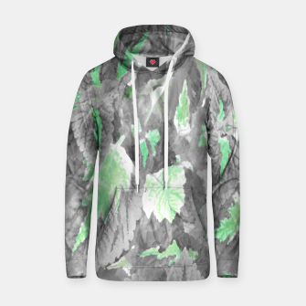 Thumbnail image of botanical coleus leaves camouflage art 3/3 ( gray green ) Hoodie, Live Heroes
