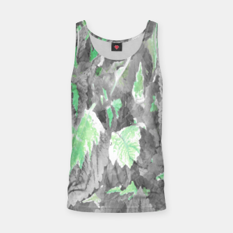 Thumbnail image of botanical coleus leaves camouflage art 3/3 ( gray green ) Tank Top, Live Heroes