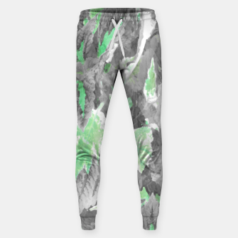 Thumbnail image of botanical coleus leaves camouflage art 3/3 ( gray green ) Sweatpants, Live Heroes