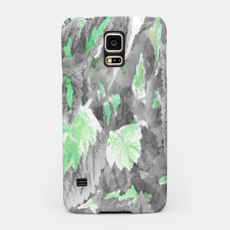 Thumbnail image of botanical coleus leaves camouflage art 3/3 ( gray green ) Samsung Case, Live Heroes