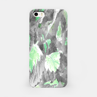 Thumbnail image of botanical coleus leaves camouflage art 3/3 ( gray green ) iPhone Case, Live Heroes
