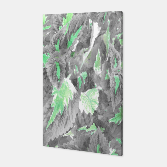 Thumbnail image of botanical coleus leaves camouflage art 3/3 ( gray green ) Canvas, Live Heroes