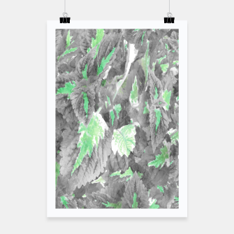 Thumbnail image of botanical coleus leaves camouflage art 3/3 ( gray green ) Poster, Live Heroes