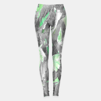 Thumbnail image of botanical coleus leaves camouflage art 3/3 ( gray green ) Leggings, Live Heroes