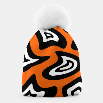 Imagen en miniatura de Abstract pattern - red, black and white. Beanie, Live Heroes