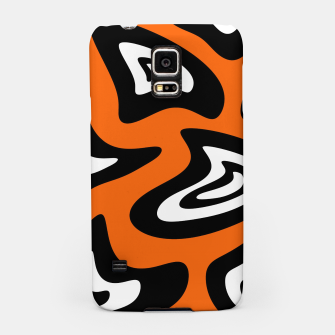 Imagen en miniatura de Abstract pattern - red, black and white. Samsung Case, Live Heroes