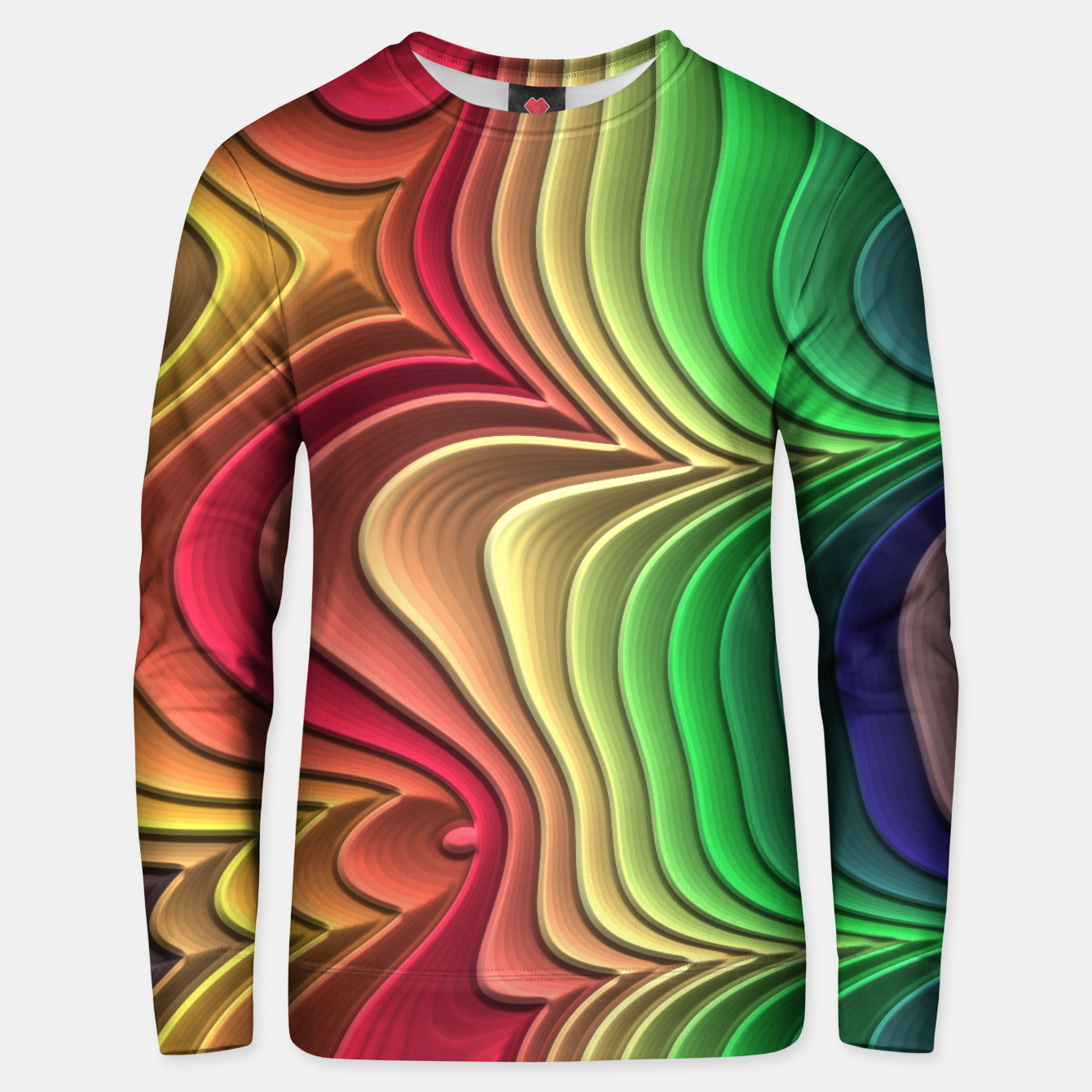 Foto Abstract Layer Waves - 01 Unisex sweater - Live Heroes