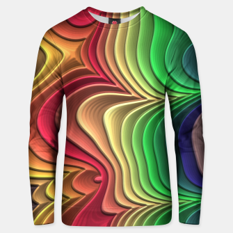 Abstract Layer Waves - 01 Unisex sweater Bild der Miniatur