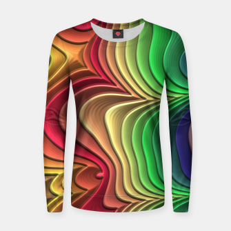 Abstract Layer Waves - 01 Women sweater Bild der Miniatur