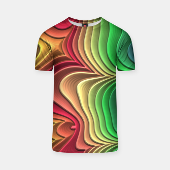 Abstract Layer Waves - 01 T-shirt Bild der Miniatur