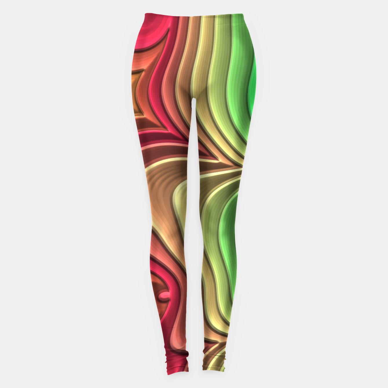 Foto Abstract Layer Waves - 01 Leggings - Live Heroes