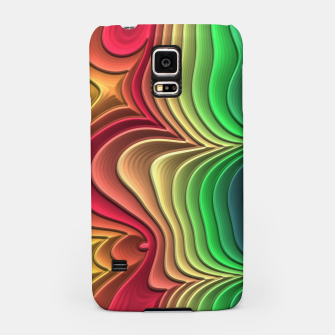 Abstract Layer Waves - 01 Samsung Case Bild der Miniatur