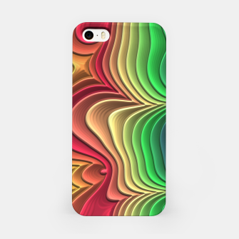 Abstract Layer Waves - 01 iPhone Case Bild der Miniatur