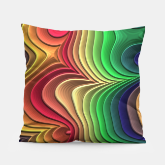 Abstract Layer Waves - 01 Pillow Bild der Miniatur