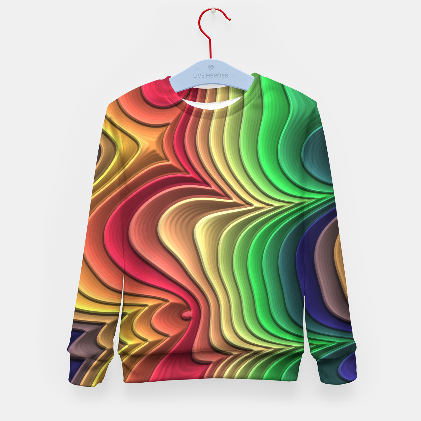 Image of Abstract Layer Waves - 01 Kid's sweater - Live Heroes