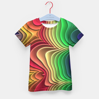 Abstract Layer Waves - 01 Kid's t-shirt Bild der Miniatur