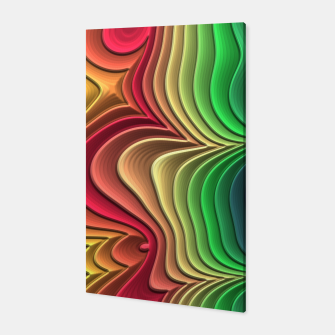 Abstract Layer Waves - 01 Canvas Bild der Miniatur