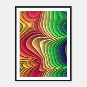 Abstract Layer Waves - 01 Framed poster Bild der Miniatur