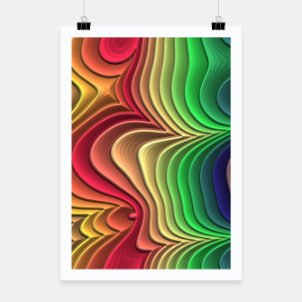 Miniatur Abstract Layer Waves - 01 Poster, Live Heroes