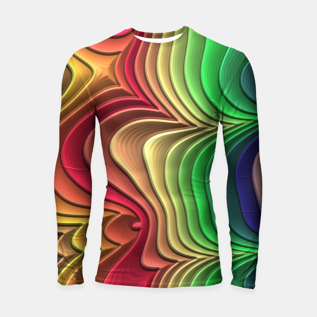 Foto Abstract Layer Waves - 01 Longsleeve rashguard  - Live Heroes