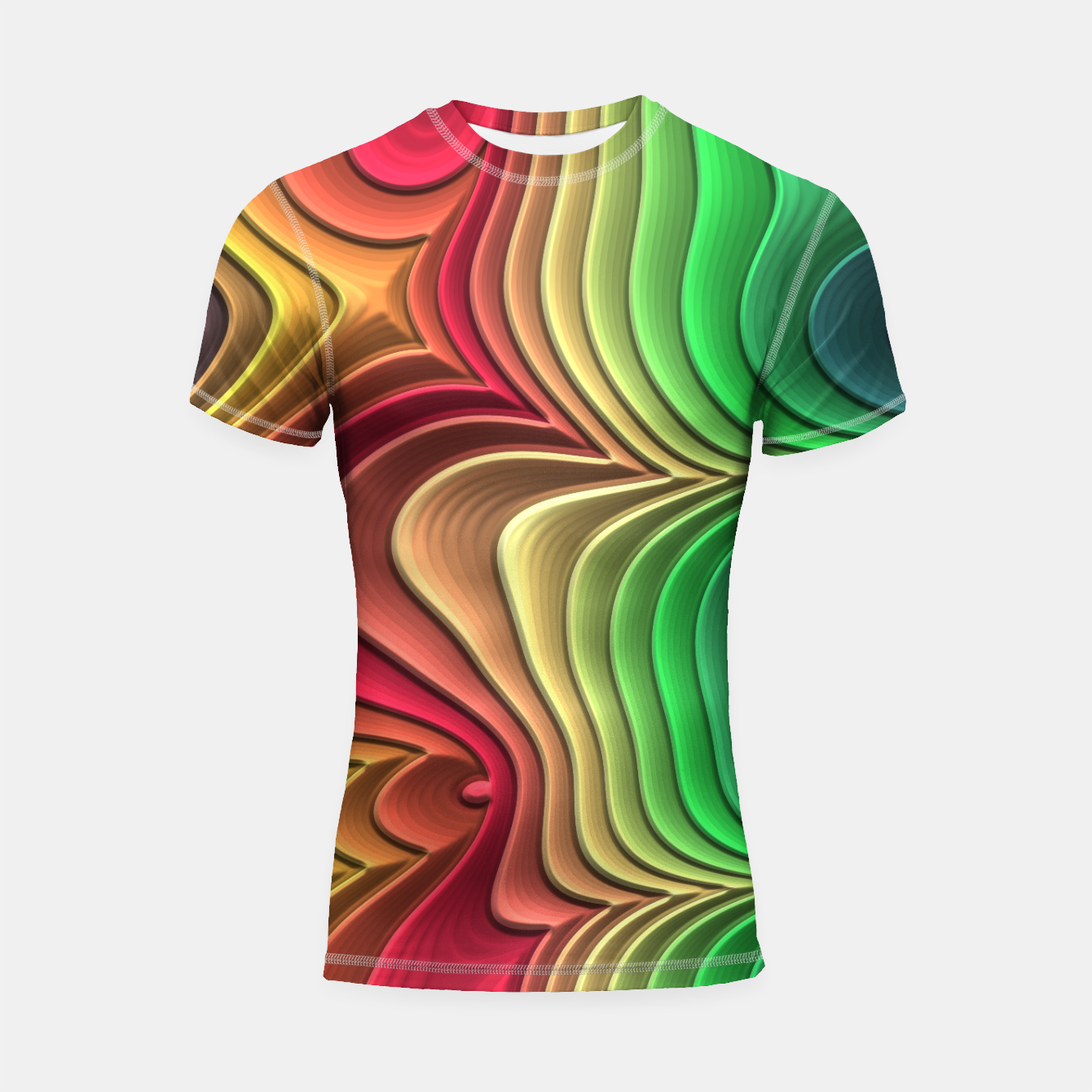 Image of Abstract Layer Waves - 01 Shortsleeve rashguard - Live Heroes