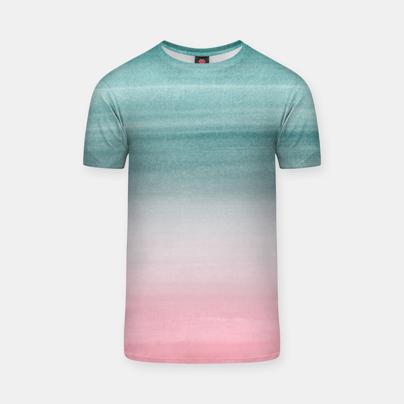 Zdjęcie Touching Pink Teal Turquoise Watercolor Abstract #1 #painting #decor #art  T-Shirt - Live Heroes