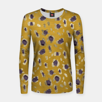 Thumbnail image of Leopard Animal Print Glam #10 #pattern #decor #art Frauen sweatshirt, Live Heroes