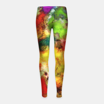Thumbnail image of A shouty place Girl's leggings, Live Heroes