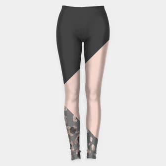 Miniatur Leopard Geometric Glam #1 #minimal #decor #art Leggings, Live Heroes