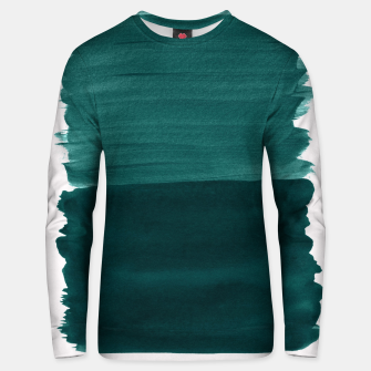 Miniature de image de Dark Teal Emerald Abstract Minimalism #3 #minimal #ink #decor #art Unisex sweatshirt, Live Heroes