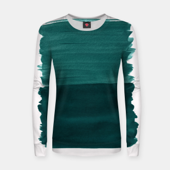 Miniature de image de Dark Teal Emerald Abstract Minimalism #3 #minimal #ink #decor #art Frauen sweatshirt, Live Heroes