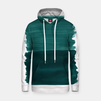 Miniature de image de Dark Teal Emerald Abstract Minimalism #3 #minimal #ink #decor #art Kapuzenpullover, Live Heroes