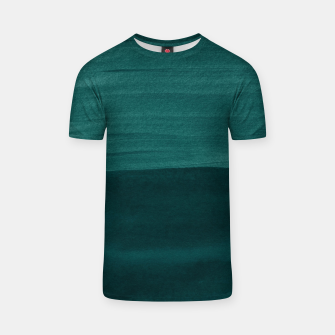 Thumbnail image of Dark Teal Emerald Abstract Minimalism #3 #minimal #ink #decor #art T-Shirt, Live Heroes
