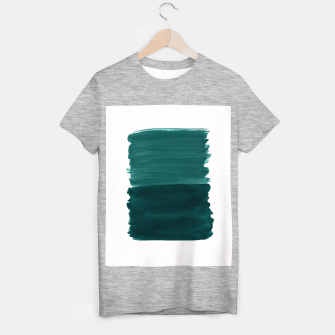 Miniature de image de Dark Teal Emerald Abstract Minimalism #3 #minimal #ink #decor #art T-Shirt regulär, Live Heroes